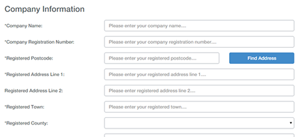 Registration process step 2
